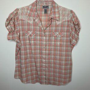Wrangler vintage style camp shirt